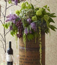 Grapes, hydrangea, hyacinth - lovely arrangement