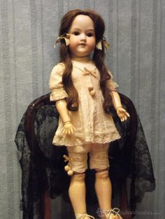 Antigua muñeca ARMAND MARSEILLE antique bisque doll