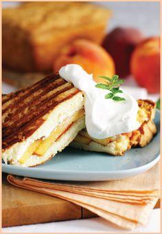 Peaches & Cream Pound Cake Panini..........