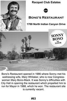 Sonny Bono's Palm Springs restaurant