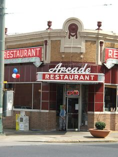 arcade restaurant. memphis--Elvis ate his fried peanut butter and banana sandwiches here....they are awesome!!!!