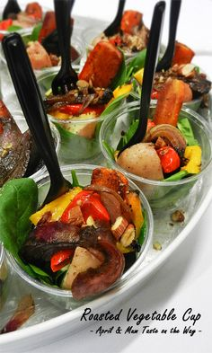 Roasted Vegetable Cup | #healthy #vegetarian - with vegan option #Australian