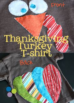 Turkey T-shirt....super cute!  My goal is to make these for this year!