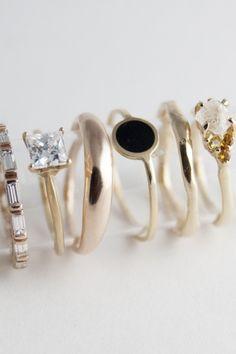 beautiful dainty rings