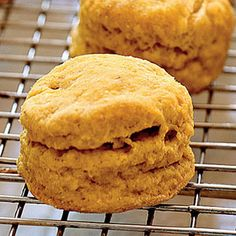 Healthy Halloween and Fall Favorites   Spiced Pumpkin Biscuits   CookingLight.com