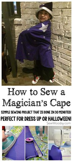How to Sew a Magician's Cape using @Cricut Iron-On Vinyl