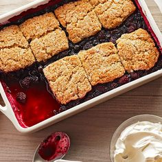 Black and Blue Cobbler with Brown Sugar-Pecan Biscuits