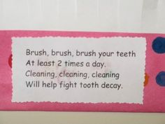 "Song, ""Brush Your Teeth"""
