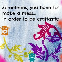 Craft messes are the best :) #PinPals