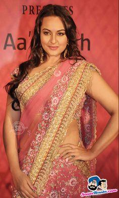 Sonakshi Sinha in Saree by @Maheka Mirpuri  http://www.mahekamirpuri.com/