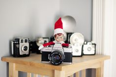 Taking pictures to send back to Santa.