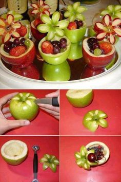 crafts (7)  Love this apple idea.  How, cute and great for a party.