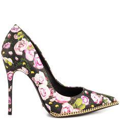 """""""Shoe du Jour"""" 10.24.14 Schutz """"Polly"""" Bloom Flower Mix Pumps « Shoefessional"""