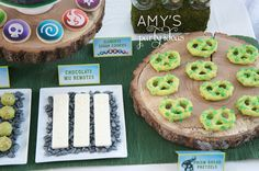skylanders birthday party dessert table candy bar ideas; Skylanders Giants Birthday Party Ideas & Games | @AmysPartyIdeas #SkylandersGiants #party #DIY #Skylander #Birthday #dessert table #supplies