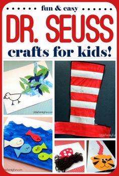 Dr. Seuss Crafts!! Read the book, then do the craft. Perfect for Dr. Seuss Birthday!