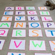 Moms and grandmas looking for a way to keep kids busy are going to absolutely love this quick and easy sewing project. Combing the active jumping game of hopscotch and an engaging alphabet lesson, the Hopscotch Alphabet for Kids will engage their bodies and minds.
