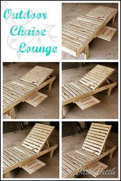 DIY chaise lounge chair
