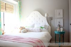 Turquoise and Pink Big Girl Room