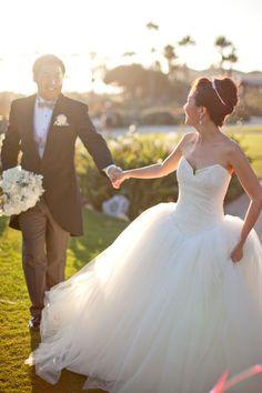#WeddingGown | See the Wedding on #SMP Weddings: http://www.stylemepretty.com/california-weddings/laguna-beach/2013/01/07/montage-laguna-beach-wedding-from-jana-williams-photography/  Jana Williams Photography