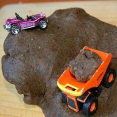 mud-like coffee playdough