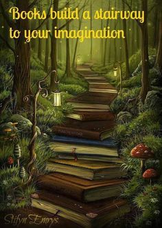 books, paths, middle school, pathway, magical places, art, the reader, librari, stairways