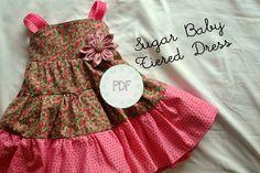 free babytoddler dress patterns   Sugar Baby Tiered Dress - Baby Toddler Girls PDF Dress Pattern Sizes 6 ...