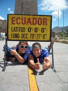 Stand on the equator.