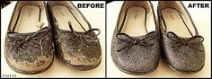 Glitter Blast Shoe Save kid shoes, glitter shoes, old shoes, ballet shoes