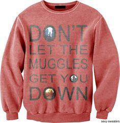 geek, harri potter, sweater, life motto, cloth