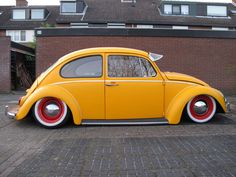 I'm not much into VW Bugs, but this lowered Bug is one cool ride!
