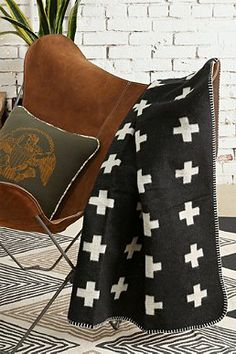 Pia Wallen Cross Throw Blanket $99