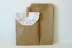 Kraft Paper Bags - 50 BLANK 3 1/4 x 5 1/4 in Cute Packaging. $2.80, via Etsy.