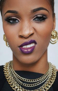 fall makeup black women - Google Search MAC Heroine for the lip maybe...