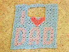 I Love Dad Baby Bib - free crochet pattern