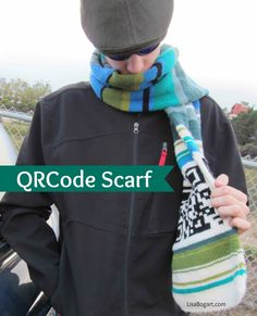 My QR-key scarf pattern is featured on knitty.com starting this month. I am sharing this pattern with the hope lots of loved ones will get wrapped in something special. I also am running a giveaway on my website so you can win the black and white yarn you'll need to start your own QR-key scarf. Add some stash yarn, and you are well on your way to wrapping someone you love with warmth.
