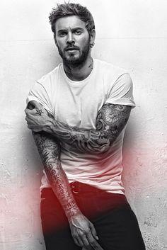 guys and tattoos, boys tattoos, beards tattoos, boy tattoos, bearded tattooed guys, men style, man tattoo, sleeve tattoos men, ink