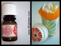 Repurpose medicine bottles.
