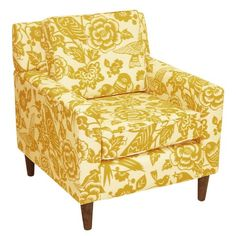 Canary Maize Cube Chair