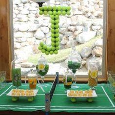 Tennis Party {sports theme party}