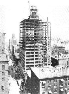 Downtown Des Moines, IA, Equitable Building under construction, August 1924