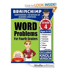Free Kindle Books: Nifty Fifty State Facts and Word Problems for Fourth Graders