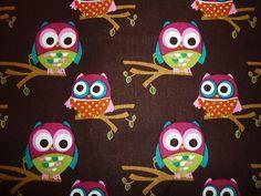 Owl print fabric