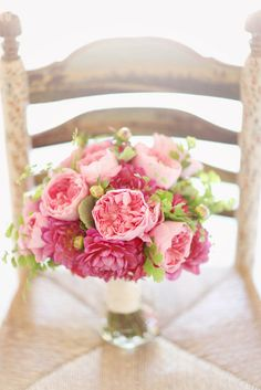 Stunning Pink Bouquet ~ Floral design by camillaflowers.com
