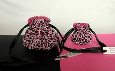 """A matched jewelry bag set!  A mini bag for your purse or suitcase and a larger bag for your suitcase.  Over 250 other fabrics available in 5 sizes @IslandJewelryBags.com  """"Cat-trastrophe"""" #Jewelry Bag Set $14.25"""