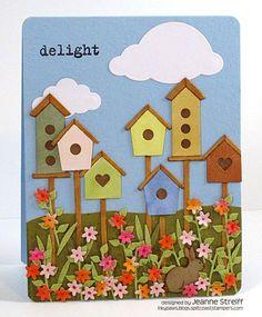 birdhouse die, card