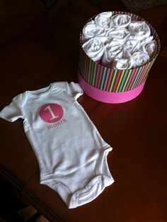 DIY Monthly Onesie PRINTABLES | GIRL. This is fabulous. I have lots of folks having babies so this will be great!!