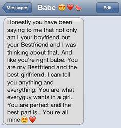 cute texts between boyfriend and girlfriend | boyfriend bestfriend best boyfriend cute text adorable hipster ...