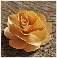 Wooden Roses PDF Tutorial Using Birch Wood Shavings
