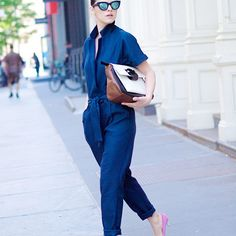 the office, street style, outfit, aso jumpsuit