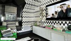 LA House - Screening Room - Styled for Veranda's House of Windsor Designer Showcase  Design by: Martyn Lawrence Bullard